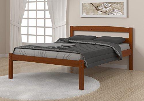 DONCO Kids Econo Bed, Full, Light Espresso - Solid Pine Light Espresso Color Can fit DONCO KIDS Dual Underbed Drawers or DONCO KIDS Twin Pull out Trundle - bedroom-furniture, bedroom, bed-frames - 41DBLJ1PCKL -