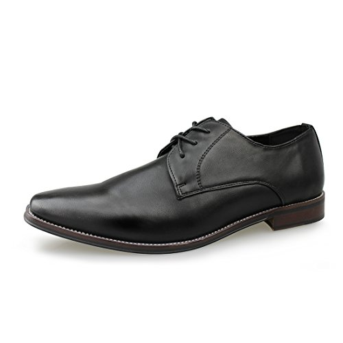 Footwear Mens Black Lace Oxford - Hawkwell Men's Casual Suede Classic Lace up Oxfords Lace Dress Shoes,Black PU,9 M US