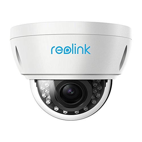 Reolink 5MP IP POE Home Security Camera 4X Optical Zoom Vandal-Proof IK10 Dome Outdoor & Indoor IR Night Vision RLC-422