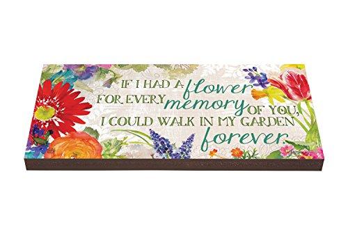 Studio M Art Paver Decorative Garden Step, 8 x 16-Inches, Fond Memories, Found Memories by Studio M