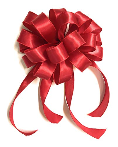 Down Home Designs Red Christmas Holiday Bows (3pack) Durable Indoor/Outdoor Wired 12 loop -