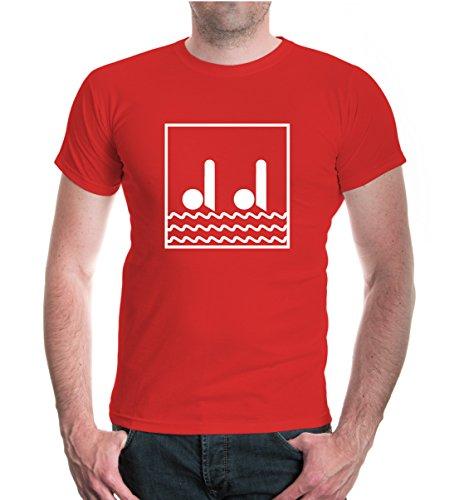 buXsbaum T-Shirt Synchronized Swimming-Pictogram-XXXL-Red-White (Schwimmen-trikots)