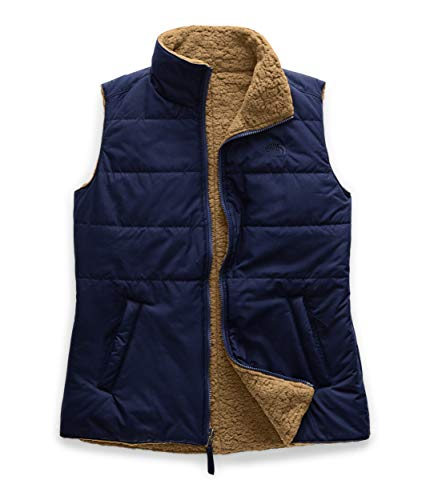 The North Face Women's Merriewood Reversible Vest, Montague Blue/Cedar Brown, Small