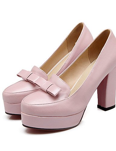 ShangYi Women's Shoes Chunky Heel Open Toe Slippers Dress Pink/White , pink-us6 / eu36 / uk4 / cn36 , pink-us6 / eu36 / uk4 / cn36