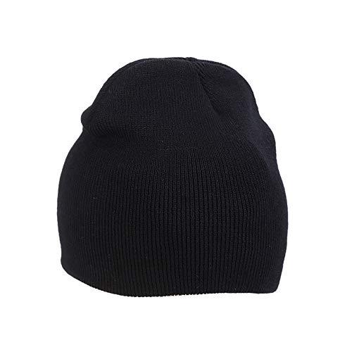 Hats Skull Winter Mujeres Lana Hombres Cap Warm y IRONLAND negro Beanie para Knitting wpPxwYq