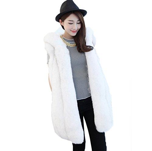 シフト保護情緒的女性の毛皮の毛皮のベスト毛皮の毛皮の垂直フード付き毛皮の1つのスエードの縫い毛皮のベストファッションベスト