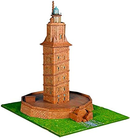 Keranova- Kit de cerámica Torre de Hércules, Color marrón (30108) , color/modelo surtido