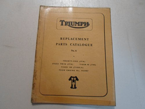 1966 Triumph Replacement Parts Catalog No.6 3TA 5TA T90 T100S/S