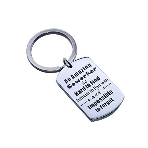 Jewelady Coworker Leaving Gifts Keychain New Job Leaving Gift Work Office Present Funny Coworkers Goodbye Gift (an Amazing Coworker is Hard to Find)