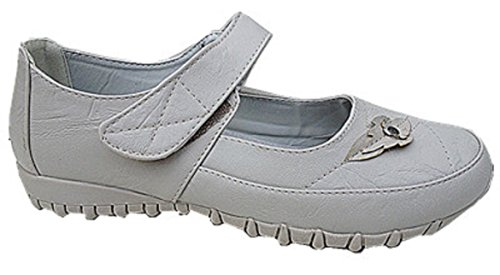Women Shoes Babies Nautical Ballerina 8808-27 Grey 5BeyQW