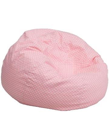 Flash Furniture Small Light Pink Dot Kids Bean Bag Chair 52c264ee335f6
