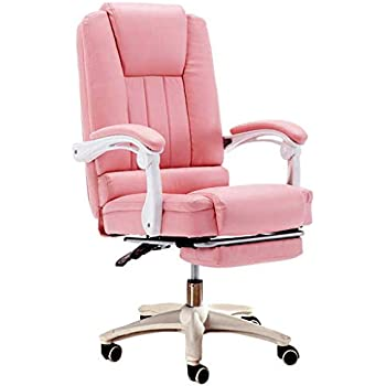 Desk Chairs Computer Chair Office Chair Stylish Reclining Sofa Chair Pink Home Swivel Chair Soft and Comfortable Office Chair 360 Rotation Lifting (Color ...