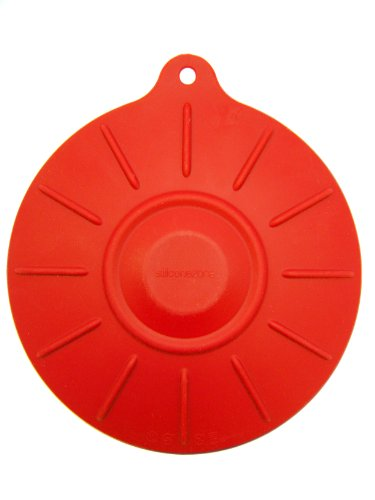 "SiliconeZone 7.8"" Silicone Cookware Suction Pad, Red"