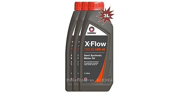Comma xfxs1l x-flow XS 10 W-40 - Aceite sintético de motor - 3L ...