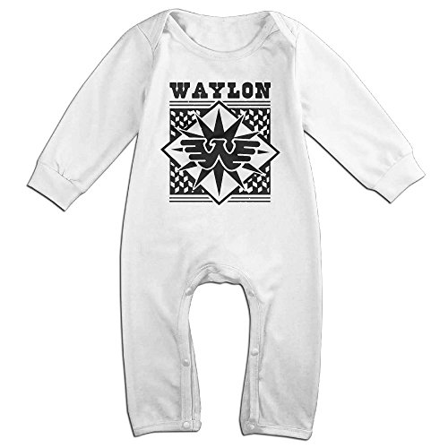 Sons Of Anarchy Costume Baby (PCY Newborn Babys Boy's & Girl's Waylon Famous Jennings Singer Long Sleeve Baby Climbing Clothes For 6-24 Months White Size 18 Months)