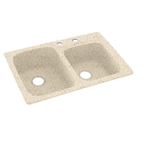 Swanstone KS03322DB.050-2C 2-Hole Solid Surface Kitchen Sink, 33