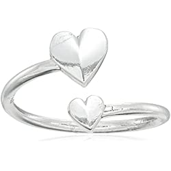"Alex and Ani ""Valentine's Day Collection"" Romance Heart Wrap Sterling Silver Ring, Valentine's Day gift"