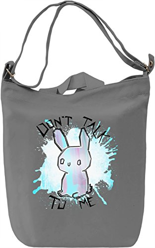 Antisocial Bunny Borsa Giornaliera Canvas Canvas Day Bag| 100% Premium Cotton Canvas| DTG Printing|