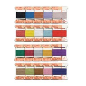 Griffin 100% Silk Bead Cord Thread Sampler Pack Size Number 4 by Griffin