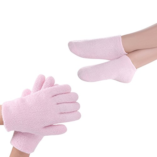 Soft Hands Gloves (Gel Spa Moisturizing Gloves and Socks, Soft Cotton with Thermoplastic Gel Lining - Infused with Essential Oils and Vitamin for Repairing Heal Eczema Cracked Dry Skin)