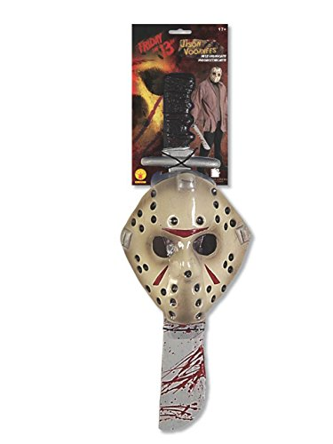 Friday The 13Th Jason Voorhees Mask And Machete Set,  Standard