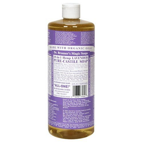 (Dr. Bronner's Magic Soaps Pure-Castile Soap, 18-in-1 Hemp Lavender, 32-Ounce Bottle)
