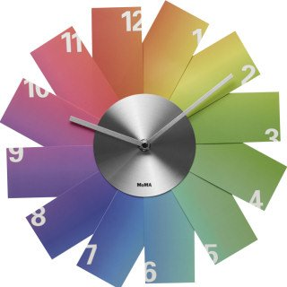 Rainbow Clock by Kazunori Tashima, - rainbow wall art decor