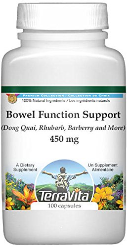 Bowel Function Support - Dong Quai, Rhubarb, Barberry and More - 450 mg (100 Capsules, ZIN: 512536) - 3 Pack