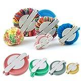 Pomp n Maker Clover Pom Pom Maker Pomp n Makers New 4 Tama os Pomp n Maker Ball Weaver Needle Craft Lana para Tejer Herramienta