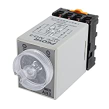 uxcell® DPDT 2NO 2NC 0-30Mins Delay Timer Time Timing Relay DC 12V AH3-3