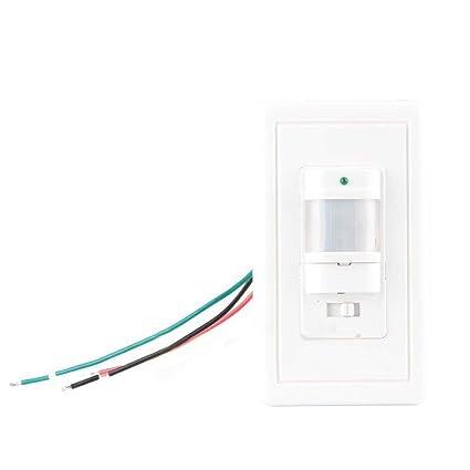 LanLan Interruptor de la lámpara de la luz, Sensor de Movimiento infrarrojo 110V para la
