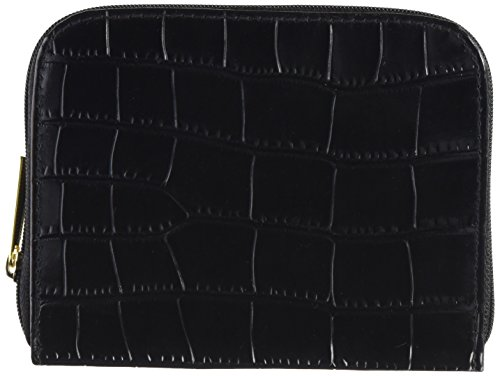 Connoisseurs Products Leather Jewelry Carrying Wallet, Black