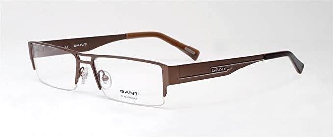 7591c807ad7 Image Unavailable. Image not available for. Color: Gant Glasses Men G YORK  SLBRN Silver Semi Rimless