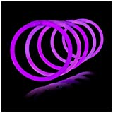 Lumistick 8 Inch 1000 Pack Glow Sticks - Bendable Glow Sticks with Necklace and Bracelet Connectors - Glowstick Bundle Party Bracelets (1000, Purple)