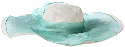 Scala Women's Sinamay Hat with Overlay, Peach, One Size