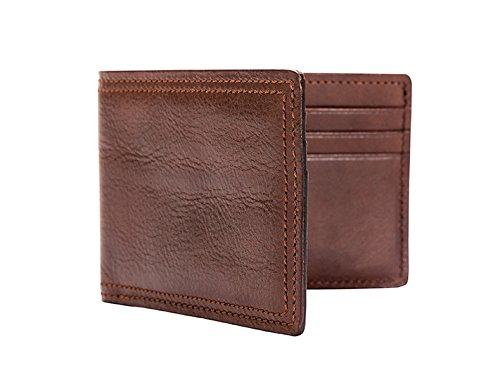 Bosca Dolce Old Leather Small Bifold Wallet (Dark Brown, One Size) (Bi Wallet Bosca Fold)
