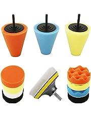 Kilixin Car Buffers and Polishers Kit for Drill, 14Pcs 4'' Drill Polishing Wheel Foam Ball Buffing Pads Sponge Ball for Automotive Car Wheels Hub Care, Metal, Plastic, Ceramic and Glass