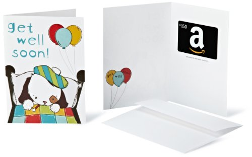 Amazon.com $150 Gift Card in a Greeting Card (Get Well Soon Design)