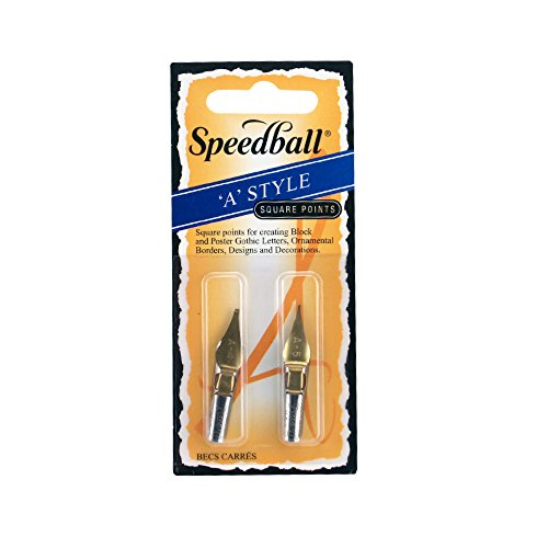 Speedball Lettering & Drawing Pen Nibs with Triple Reservoir Design, Square Tip, A4 & A5, Pack of 2 (031005) (The Crow Triple Feature)