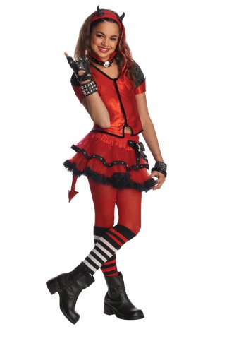 [Rubie's Drama Queens Child Devilish Costume - Medium (Size 8-10)] (Devil Costume For Girls)