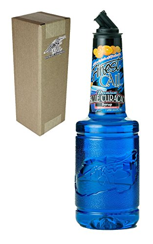 Finest Call Premium Blue Curacao Drink Mix, 1 Liter Bottle (33.8 Fl Oz), Individually Boxed (Curacao Liqueur Recipes)