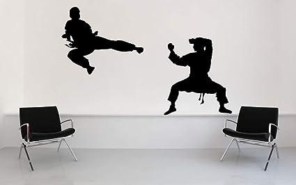 Amazon.com: Karate Judo Ninja Black Belt Karate Decal Wall ...