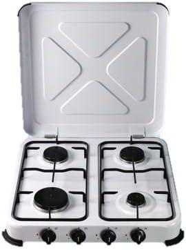 Hornillo a Gas de 4 hornillas 52 x 52 x 10 cm).: Amazon.es: Hogar