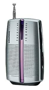 Grundig City Boy 31 PR3201 - Radio portátil (antena, 2 x AAA, AM/FM), color plateado