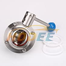 """2"""" 51mm Sanitary Butterfly Valve Tri Clamp Clover, EPDM Gasket, Stainless Steel 304"""