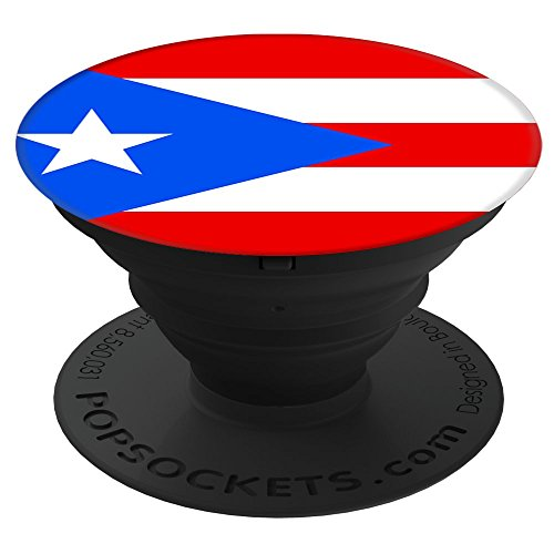 Price comparison product image Flags of the World Apparel Co. Puerto Rico Flag PopSockets Stand for Smartphones and Tablets