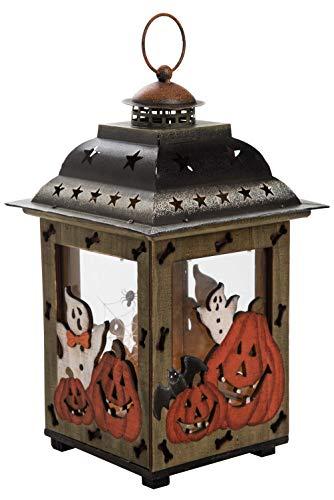Transpac Imports D0089 Small Plywood Halloween Lantern, Black