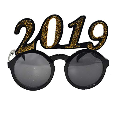 DDKK Unisex Polarized Funny Crazy Fancy Number 2019 Dress Glasses Novelty Costume Party Sunglasses Accessories