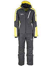 Emporio Armani EA7 men's ski suit jacket trousers winter yellow US size M (US 38) 6XPG03 PN45Z 1630