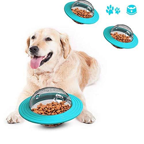 JIASHA Hundefutter Ball, Hund IQ Treat Spender Interaktive Snack Feeding Ball Spielzeug für Hunde Katze (Blau)